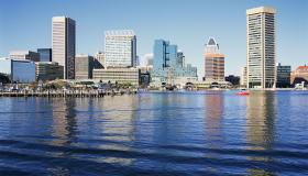 Baltimore skyline, Maryland