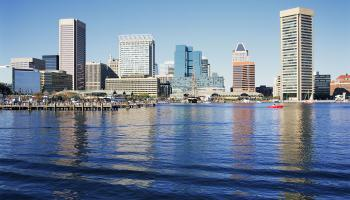Baltimore skyline, Maryland