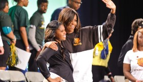 First Lady Michelle Obama And Grammy Award-Winning Artist Ciara Visit Detroit For First-Ever Citywide College Signing Day With Get Schooled And Detroit College Access Network As Part Of The First Lady's Reach Higher Initiative