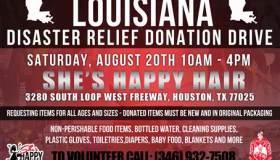Louisiana Diaster Relief Donation Drive