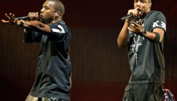 Jay-Z and Kanye West Perform at the Verizon Center