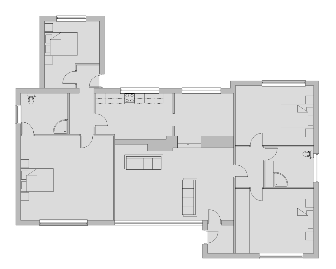 Before house extension