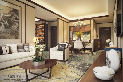 Beautiful Apartment Interior Design With Chinese Style ...