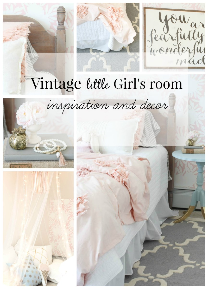 Vintage little Girls Room Reveal