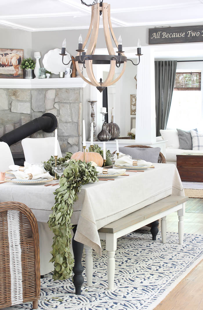 fall farmhouse tablescape rooms for rent blog. Black Bedroom Furniture Sets. Home Design Ideas