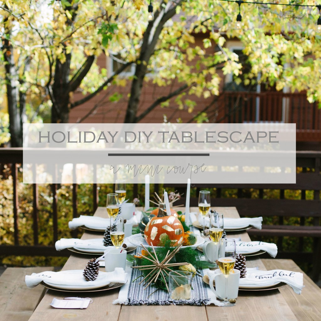 Holiday DIY Tablescape | Rooms FOR Rent Blog