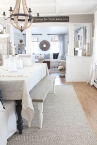 Neutral Rug in the Dining Room & Rug **GIVEAWAY**