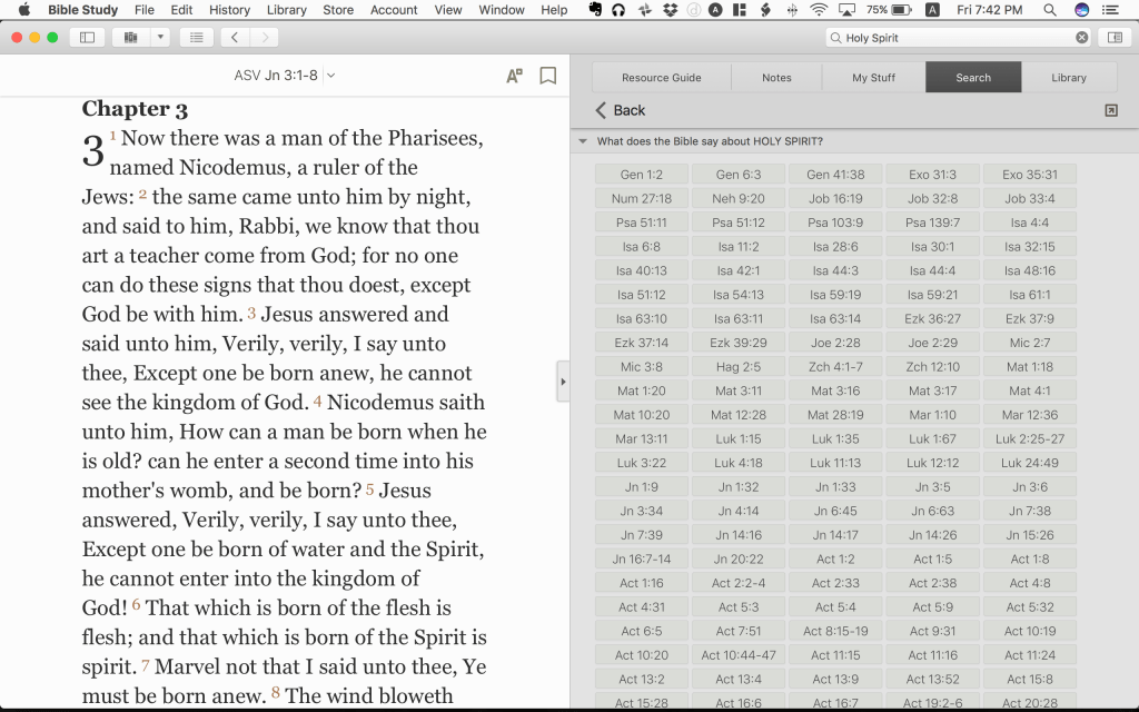Olive Tree Bible Software for mac