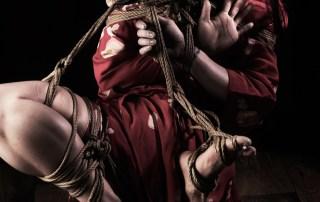 Shibari suspension expressive hands