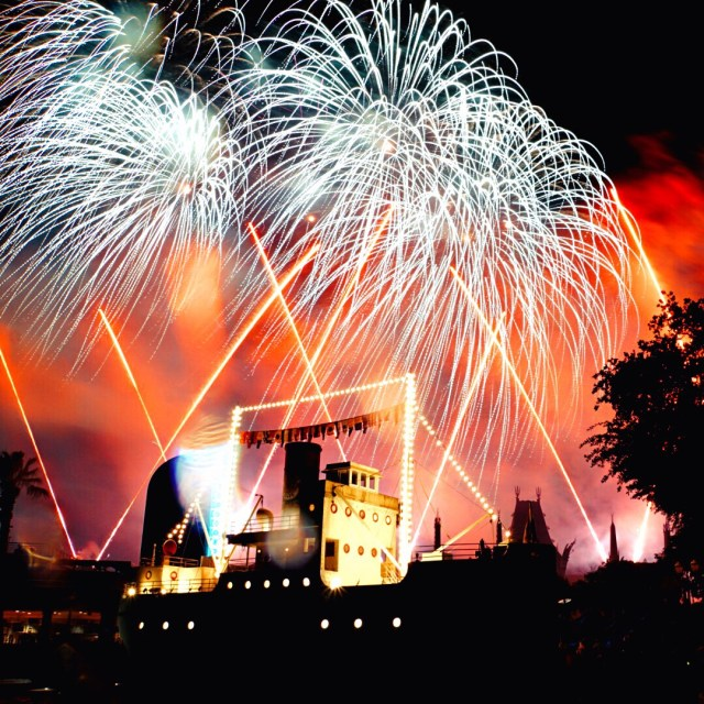The Star Wars fireworks are fantastic