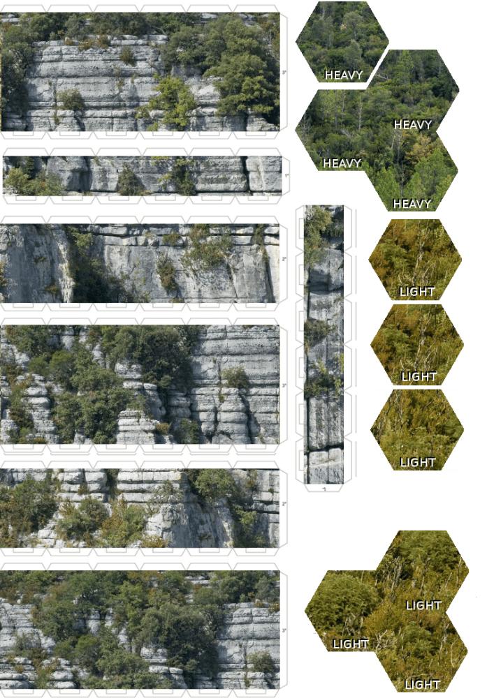 Battletech Pappgelände Wälder (3/4)