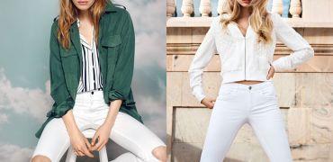 Hit! Białe jeansy z przetarciami