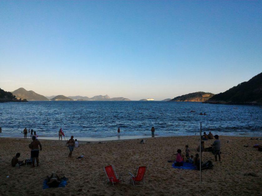 Praia Vermelha no fim de tarde