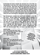 The back of the publicity leaflet for the 2013 events for Insurrection LRP. It provides information to potential players of the game.