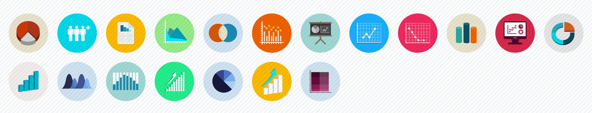 Charts flat icons