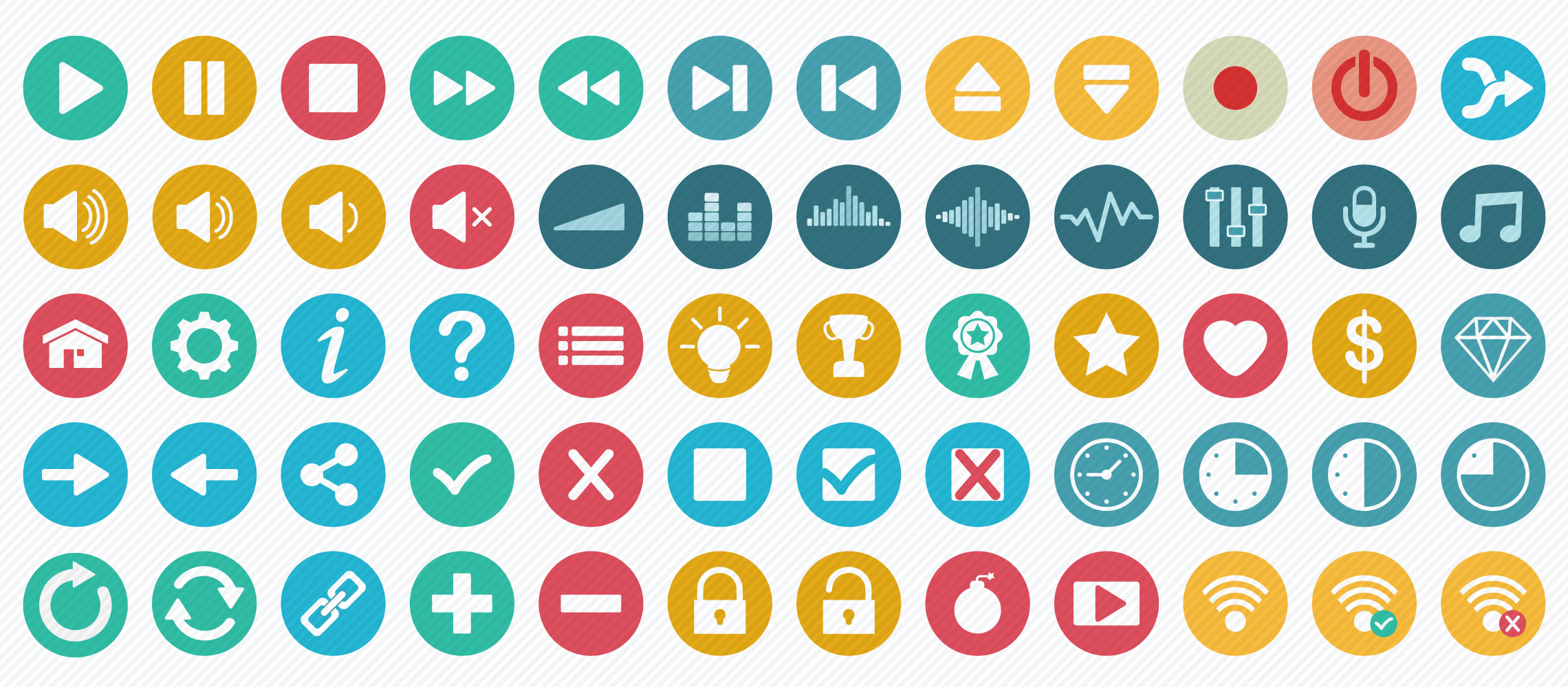 audio_video_game flat icons
