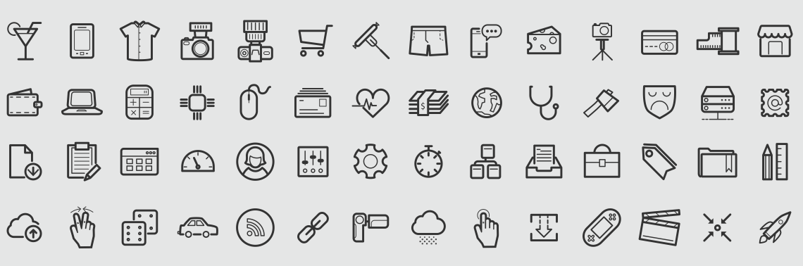 outline icons vector set