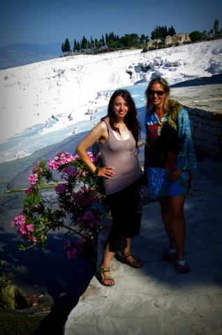 Adrianna and Natasha -  a lovely girl, who we explored Pamukkale with