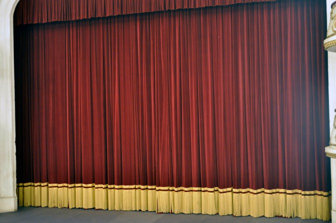 The curtain raises copy