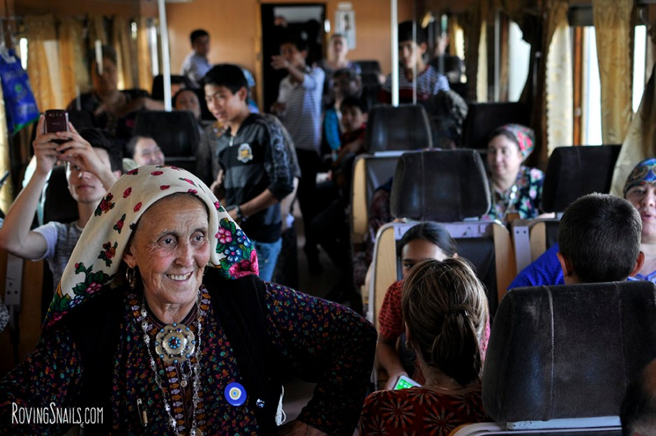 Travel Turkmenistan train people