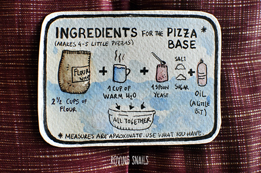 3 Dough ingredients