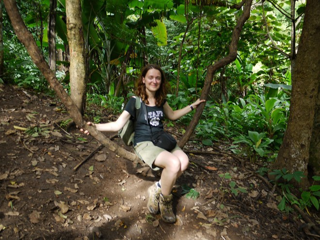 Ania hiking in the north of Thailand