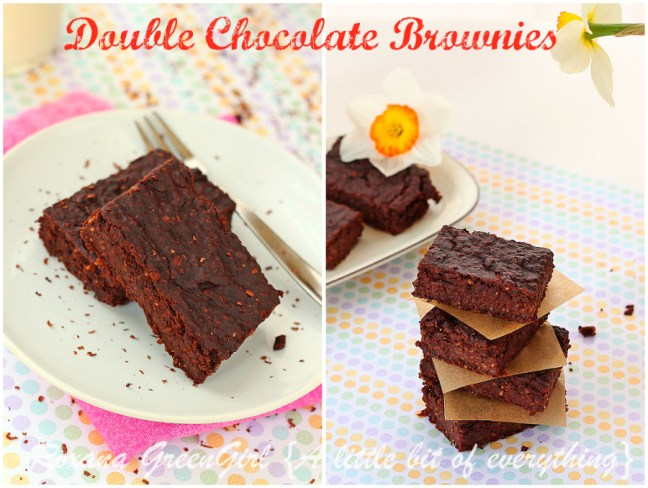 A fast, easy recipe for gluten free vegan double chocolate black beans brownies