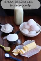 bread baking 101 - ingredients