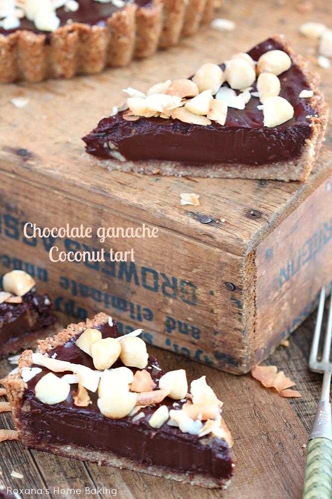 Chocolate ganache coconut tart recipe 3