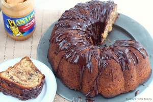 peanut butter and chocolate swirls bundt cake