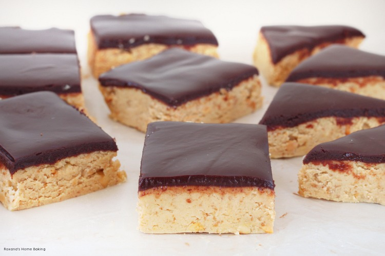 No bake peanut butter and chocolate bars recipe