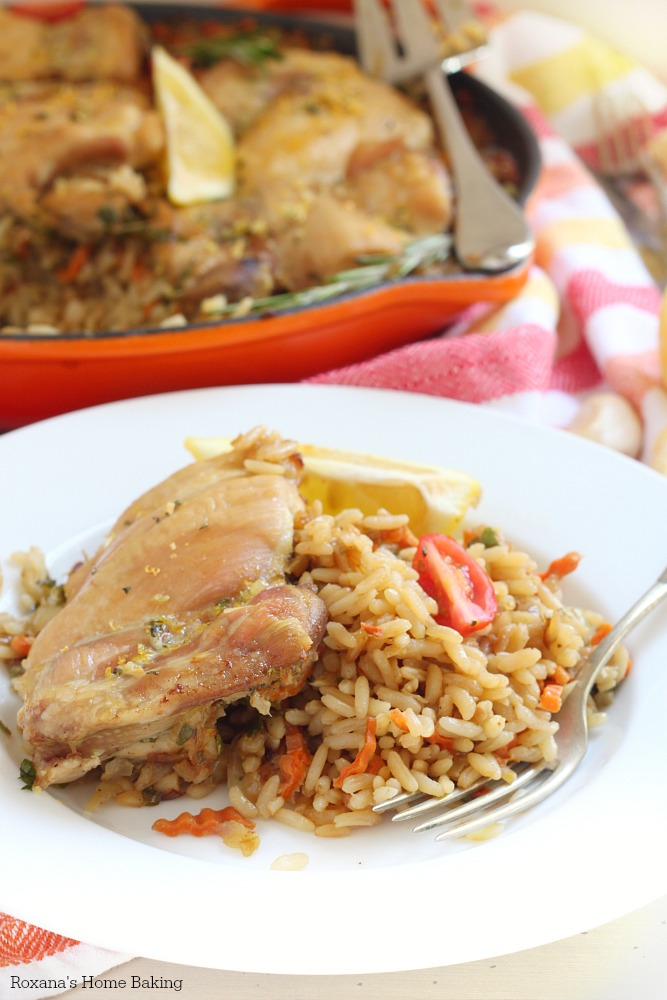 Brown rice and chicken skillet recipe
