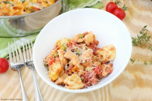 Creamy cheese tortellini and chicken skillet recipe