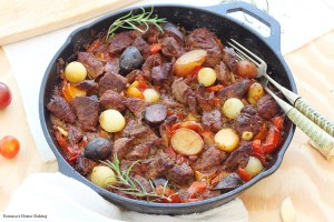 one pot beef vegetable skillet recipe