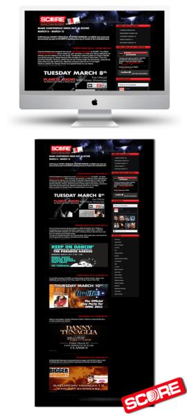 WMC 2011 Promo web page for Score