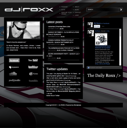 DJ Roxx Website