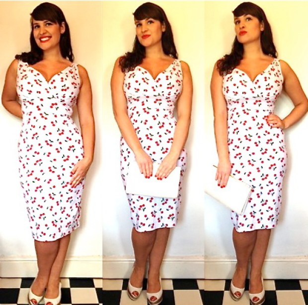 Roxy Vintage Style Stop Staring cherry dress