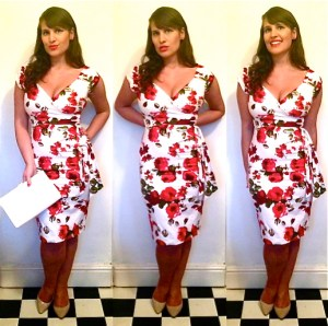 red rose Pretty Dress Company dress