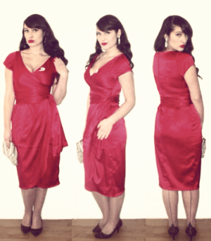 Roxy Vintage Style Pin Up Girl Clothing Red Ava Dress
