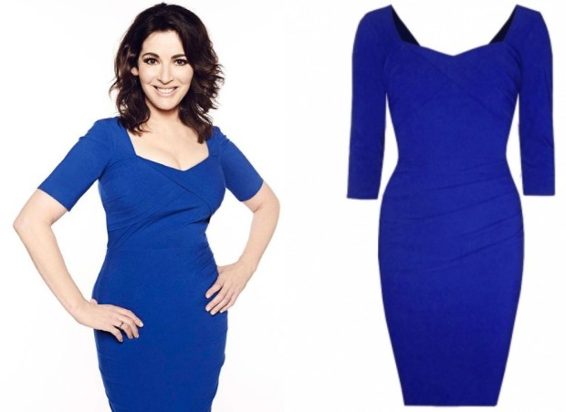 Nigella blue Diva dress