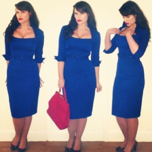 Roxy Vintage Style blue Glamour Bunny Lorelei dress