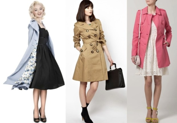 Roxy Vintage Style trench coats