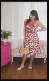 Roxy Vintage Style Collectif strawberry Ginger dress