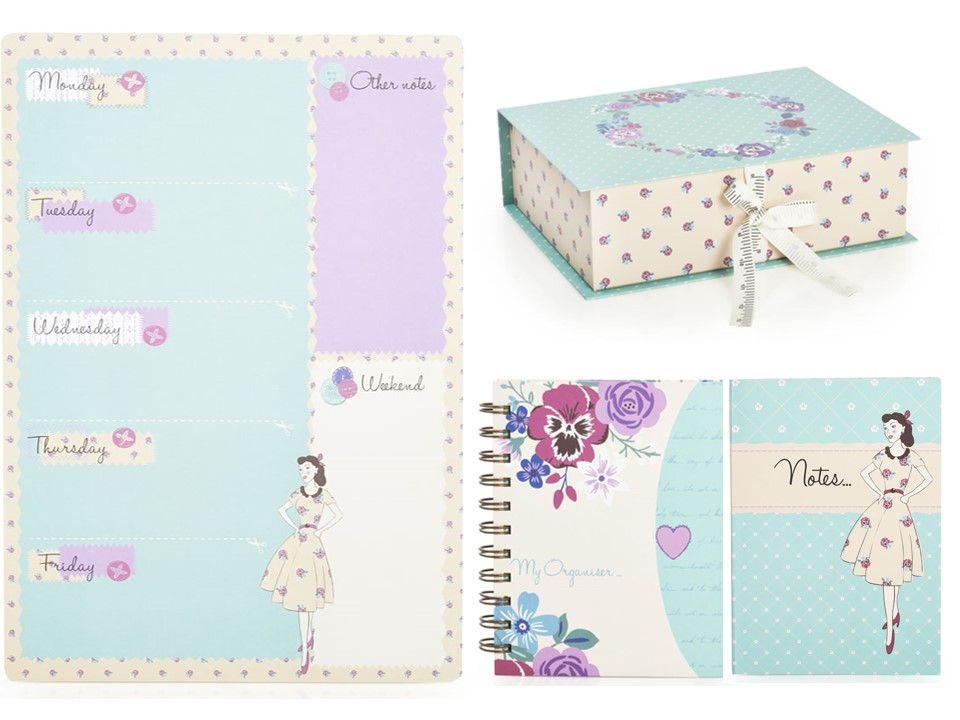 Wilko Forget Me Not stationery