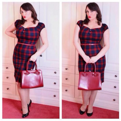 Roxy Vintage Style Outfit Of The Day Collectif tartan dress
