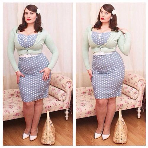 Collectif polka dot dress