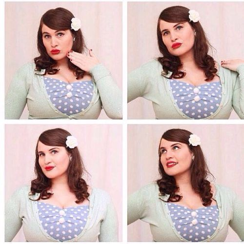 Collectif polka dot dress close up