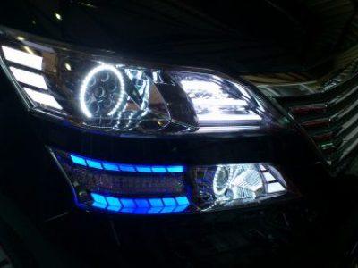 トヨタ ヴェルファイヤ ヘッドライトワンオフ加工