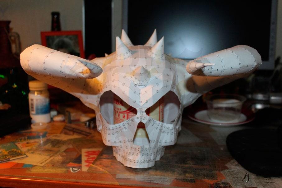 Делаем маски из папье маше