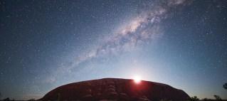 photo of the milky way over Uluru